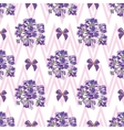 Seamless Lavender flowers background Botanical vector image