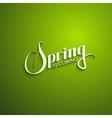 Spring season retro label vector image