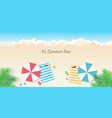 summer time background season vacation weekend vector image