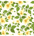 Yellow Roses Seamless Pattern vector image