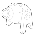 Circus cannon icon outline style vector image