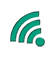 Isolated wifi symbol vector image