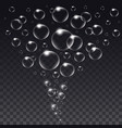 realistic isolated soap bubbles vector image vector image