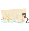 Girl taking a bath vector image vector image