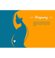 Pregnant womans silhouette vector image