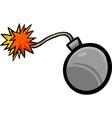Bomb clip art cartoon vector image