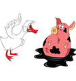 Suprised pig cartoon vector image vector image