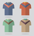 Flat Design T-Shirt Set vector image