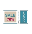 Sale Coupon certificate template vector image