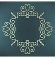 calligraphic frame mono line vector image vector image