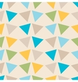 Seamless geometric pattern with triangles vector image vector image