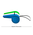 A Whistle of Republic of Sierra Leone vector image
