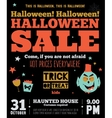 Bright Halloween hot sale card vector image