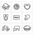 Charity icons vector image