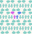 chat background pattern vector image