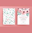 delicate wedding invitation templates vector image