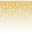 falling stars halftone background Golden vector image