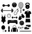 fitness equipment on white background vector image