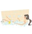 Girl taking a bath vector image