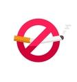No smoking sign dont smoke icon badge vector image