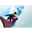 rider snowboarder slides on a rail vector image