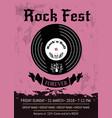 rock fest announcement vector image
