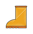 rubber boot rain seasonal icon style on white vector image
