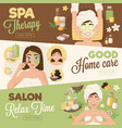 salon woman therapy banners vector image