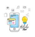 smartphone apps technology social media vector image