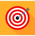 Target icon flat design with vector image
