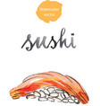 watercolor sushi vector image