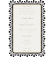 wedding card with lace details vector image