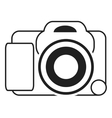 digital photographic camera icon vector image