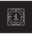 Countdown sketch icon vector image