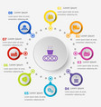 Infographic template with supply chain icons vector image