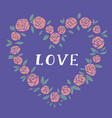 heart shaped love lettering vector image