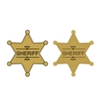 Wild west sheriff star Color vector image