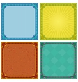 Abstract background frame set vector image vector image