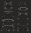 Hand-drawn vintage design elements set vector image
