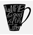 Life begins after coffee vector image