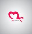 love theme logo template vector image