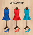 Retro fashion boutique background with colorful vector image