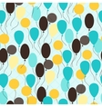 Retro seamless pattern with ballons vector image