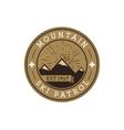 Ski Patrol Round Label Vintage Mountain winter vector image