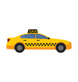 taxi car of yellow color vector image