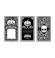 Halloween card classic and vintage style design vector image