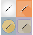 music items and equipment flat icons 13 vector image