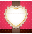 Valentine wedding card design vector image vector image