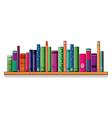 A shelf full of books vector image