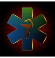 medical snake background vector image